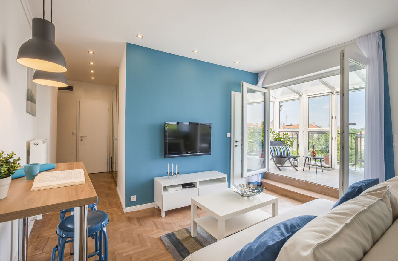 Új nappali és erkély